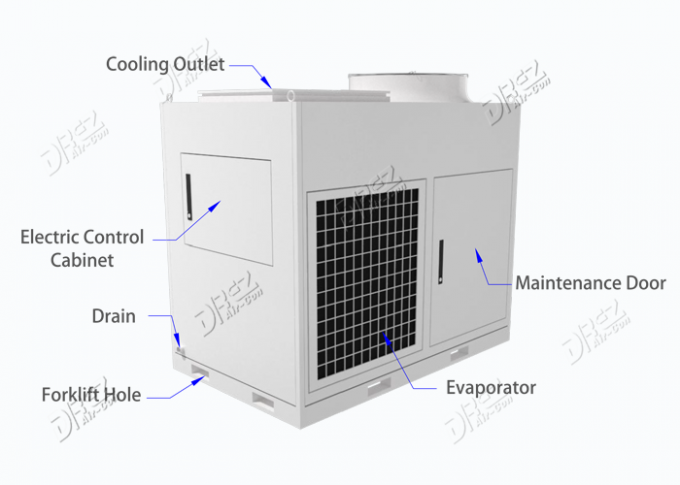 Portable 10HP Temporary Air Conditioning Units , Small Tent Packaged Air Conditioner