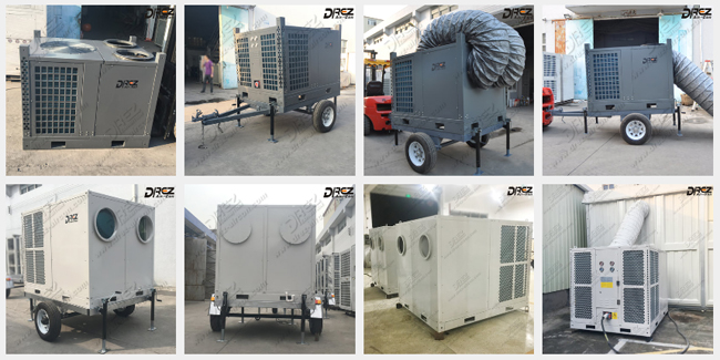 Mobile 10HP Trailer Mounted Tent Aircon 8 Ton For Outdoor Event Rentals
