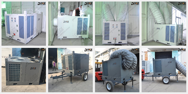 Portable 8 Ton Trailer Air Conditioner , 10HP Self Contained Dome Tent Cooling System