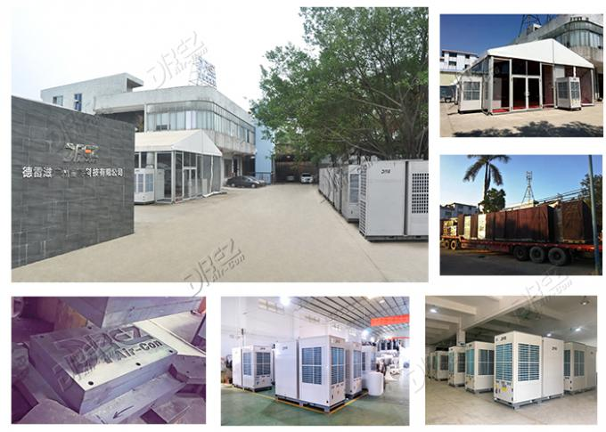 Horizontal Ducted Trailer Mounted Air Conditioner Portable For Luxury Wedding Tent