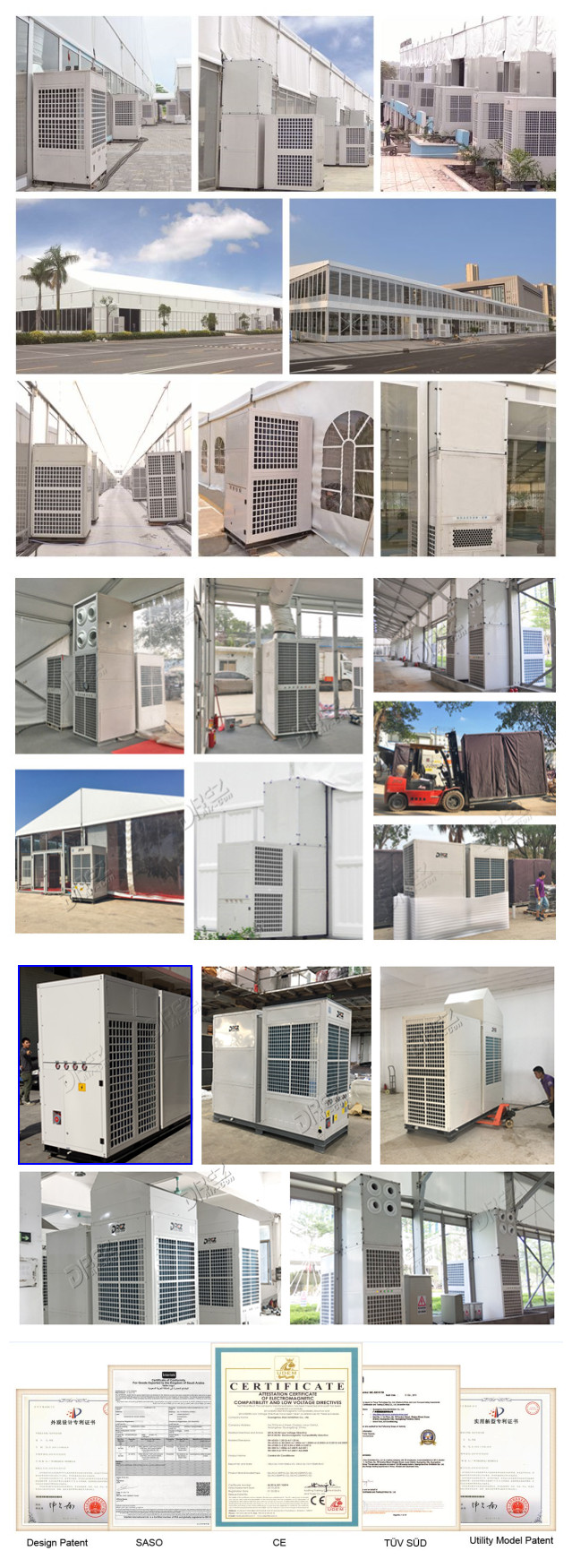 10hp 9 Ton High Efficient 108000btu Wedding Tent Air Conditioner Portable Air Cooled for Outdoor Event Tent Cooling