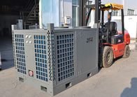 72.5KW Ducted Trailer Mounted Air Conditioner , 25HP Portable Outdoor AC Unit
